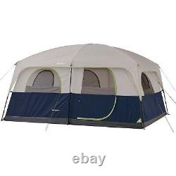 Ozark Trail 14' X 10' Family Cabin Tent, Sleeps 10 Blue Electrical Cord Access