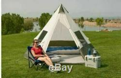 Ozark Trail 7 Personnes Grande Tente Tipi Yourte 12' X 12' Family Camping Voyage