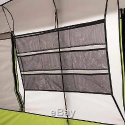 Ozark Trail 9 Personne 2 Chambre Camping Tente Verte Cabine Instantanée Abri Extérieur Nouveau