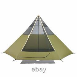 Ozark Trail Khaki 8 Personne Teepee Tent Indien Wigwam Grand Pliable Extérieur