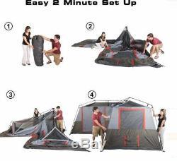 Ozark Trail Large 12 Personnes 3 Chambres Abri Extérieur Tente Instantanée Camping Randonnée