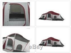 Ozark Trail Tente De Cabine Instantanée 3 Pièces 10 Personnes, Grande Lumière Pour Camping Extérieur