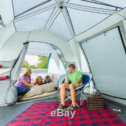 Ozark Trail - Tente De Cabine Instantanée À Plan Divisé Pour 15 Personnes, Grande Pièce, Abri De Camping