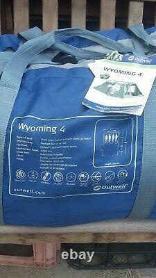 Pack De Camp - Outwell Wyoming 4 Tente De Personne, Comprend Toilettes Kampa Et Matelas
