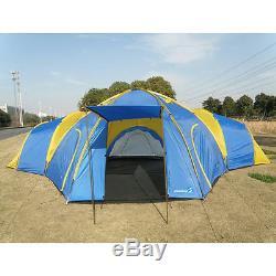 Peaktop 3 + 1 Pièces 8 Personnes Imperméable Grandes Tentes De Camping Pour Groupe Familial Uv