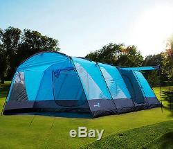 Peaktop 3 + 3 Rooms 6-9 Persons Grande Tente Familiale Avec Tapis De Camping