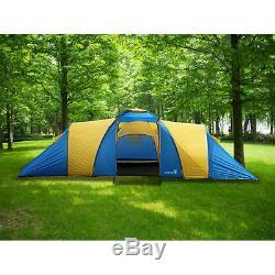 Peaktop 3 Chambres 9 Personnes Tente De Camping Grande Famille Étanche