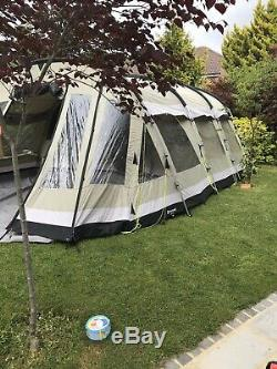 Poly Cotton 5 Tente De Naissance Avec Grand Jardin D'hiver Panoramique ' Outwell'clear Lac