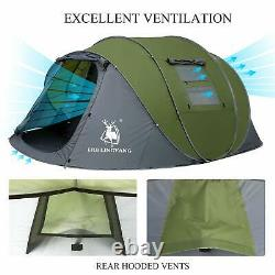 Pop Up Tent Automatique 3-4 Man Person Family Waterproof Camping Festival Portable