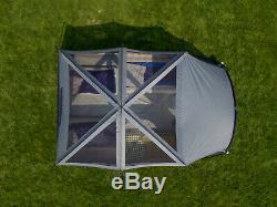 Porche Écran 12 Personnes Chalet Tente Avec 2 Entrances Extérieur Camping Familial Abri