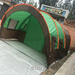 Pour 10 Personnes Grand Groupe Waterproof Family Festival Camping Tent Outdoor Tunnel