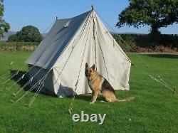 Pré Guerre Vintage Toile Tente Grand 10x8ft Csecc Evocation Vintage Camping