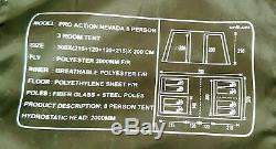 Proaction Nevada 8 Personnes Tente 3/4 Pièces 300x (215 + 120 + 215) +120 X 200cm