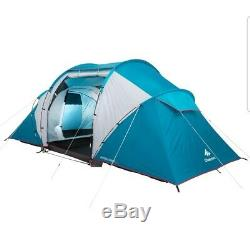Quechua 4.2 Tente Four Man Two Sections Sleeping Grand Espace De Vie. Camping