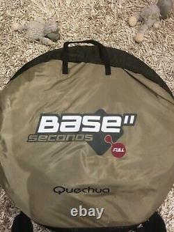 Quechua Base II Seconds'full' Pop Up Tente, Bon État, Beige