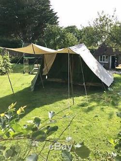 Randstad Bunzing (polecat) Tente Pyramide Hollandaise En Toile 4 Places Avec Grand Auvent