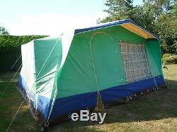 Relum 7 Berth Rétro Framestrong Toile Tente Grand 4,3 X 4 Mètres