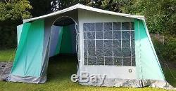 Relum Super 7k Grand 7 Berth Cadre Toile Tente Modèle De Cuisine Marquee Vintage Vgc