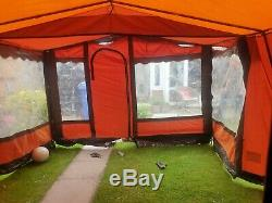 Rétro Très Grand Cadre Famille Toile Tente