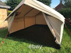 Robens Prospector 12 Personnes Polycotton Tente, Kaki, Bon État, Rétro-style