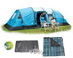 Royal Atlanta Air Tente 8 Personnes & Tapis Et Feuillard Camping Famille Grand