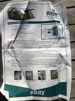 Royal Houston 6 Homme Tente Avec Grande Surface Habitable, Pleine Hauteur Et Canopée