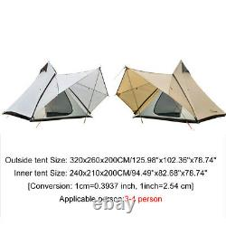 Royaume-uni 4 Personnes Camping Waterproof Family Indian Style Pyramid Tipi Royaume-uni