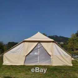 Royaume-uni Grand Camping Famille Expédié En Toile De Coton Touareg Tente Pour 810 Personnes
