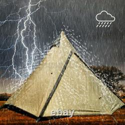 Royaume-uni Grande Tente Familiale Légère Imperméable À L'eau Indian Style Pyramid Tipi Tentes