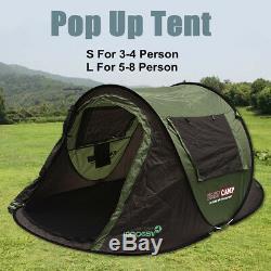 S / L Camping Automatique Instantanée Popup Tente 4/8 Personne Extérieure Des États-unis Étanche