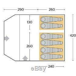 Salut Vitesse Voyager 6 Tente Bundle Complet De Camping Eclipse (utilisé Une Fois)