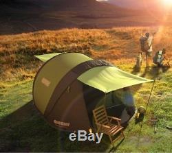 Sangler! Grande Tente Familiale De Camping Pour Tente Familiale, 4 Personnes, Tente Solaire 4 Personnes