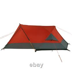 Silicone Biker 2 Tente Dôme, Tente De 2 Personnes Imperméable À L'eau 5000mm Orange-rouge