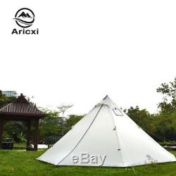 Silnylon Pyramide Tente Grande Tente Tente Randonnée Pédestre Sans Tige