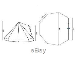 Skandika Comanche 8 Personnes Tipi Tipi Grande Tente De Camping En Plein Air Verte