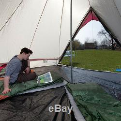 Skandika Comanche Tipi Tipi 8 Personne / Homme Tente De Camping Grand Plancher Cousu Nouveau