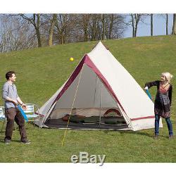 Skandika Comanche Tipi Tipi 8 Personne / Homme Tente De Camping Grand Sol Cousu