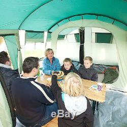 Skandika Hurricane 8 Person / Man Famille Tente Tunnel Grand Groupe Colonne 5000mm Nouveau