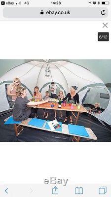 Skandika Korsika Tente Verte De Camping Pour Grand Groupe, 10 Personnes