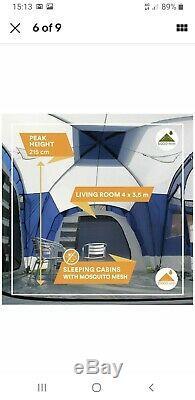 Skandika Nimbus 12 Tente Tunnel Man. Grand Cruciformes Camping 3 Ou 4 Chambres
