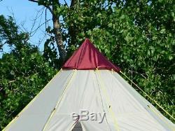 Skandika Tipii 200 6 Personnes Tipi Tipi Grande Tente De Camping Festival En Plein Air
