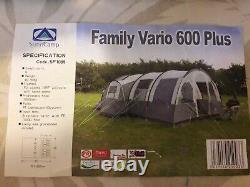 Sunncamp Family Vario 600+ Tente Tunnel Familial