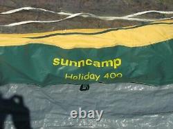 Sunncamp Holiday Trailer Tente Avec Unité De Cuisine Détachable Plus Grand Auvent