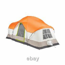 Tahoe Gear Olympia 10 Personne 3 Saison Camping En Plein Air Tente, Orange Et Vert