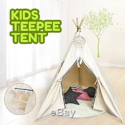 Teepee Tipi Tente De Jeu Wigwam Coton + Tapis Camping Pour Enfants Grands Enfants