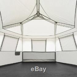 Tente 8 Personne Instantanée Hexagon Cabin 7 Grandes Fenêtres Activités De Plein Air