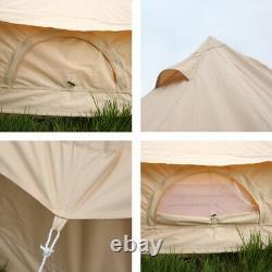 Tente Bell En Toile De Coton 4 Saisons 6m Imperméable À L'eau Tente Extérieure Yourte Grand Glamping