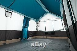 Tente Camping Grande Famille 12 Personnes 20 'x 12' Extérieur Toit 3 Pièces Abris Toit