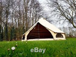 Tente De Bell De Toile De 360 gsm 3m Avec Zippée Dans De Grandes Tentes De Famille De Tapis De Sol