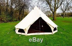 Tente De Bell De Toile De 360 gsm 4m Avec Zippée Dans De Grandes Tentes De Famille De Tapis De Sol